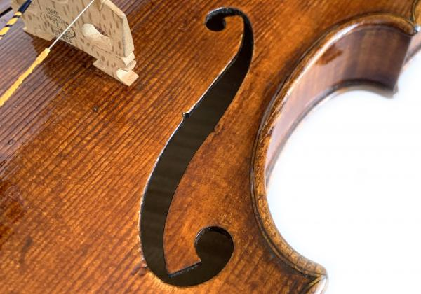 Topa violin f-hole closeup