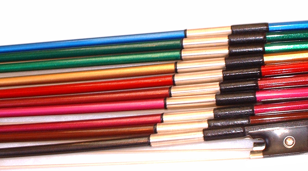 Prism Coloured Carbon Bows in Fractional Sizes