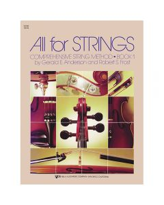 All for strings book cover with collage of instruments