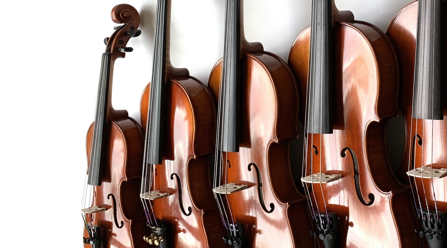 Violins from smallest to largest