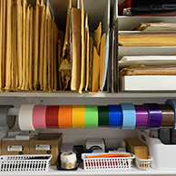 Reused envelopes and packing materials