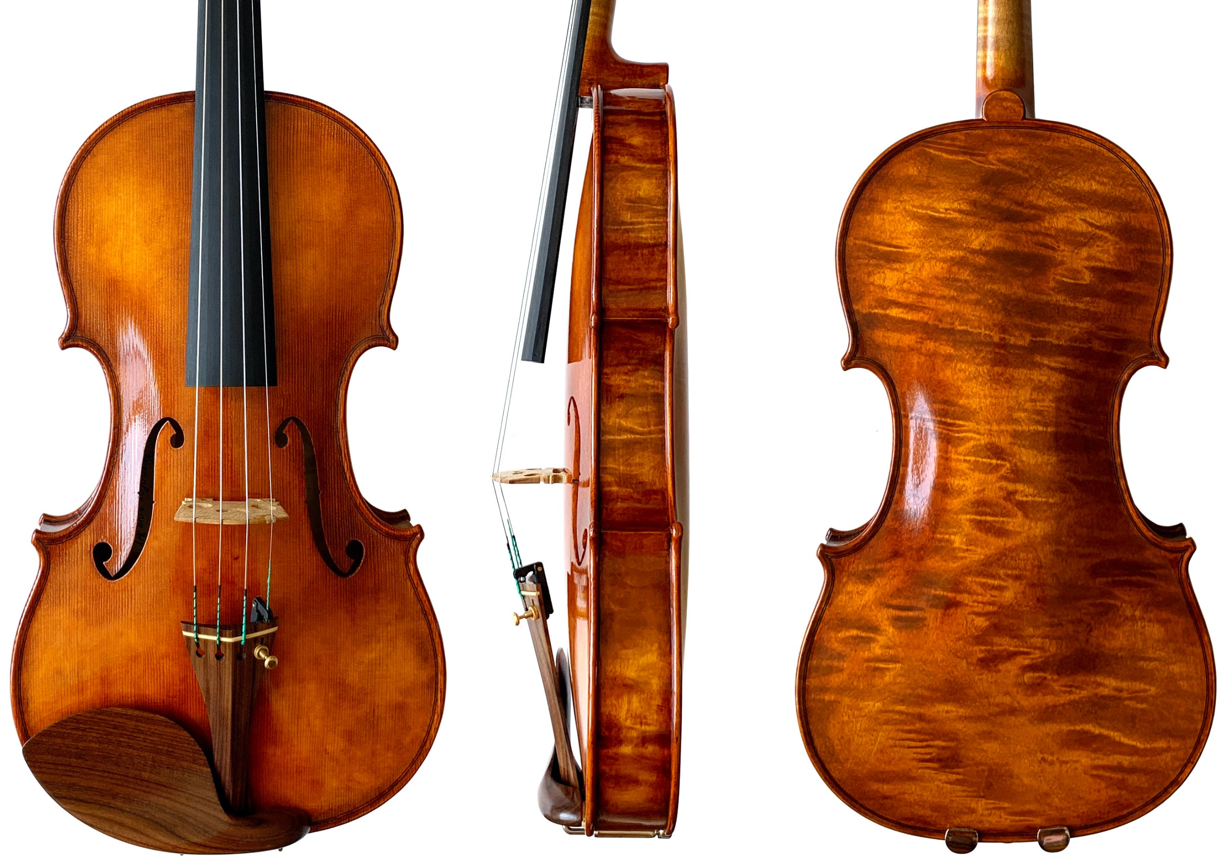 Moneff violin front, side and back