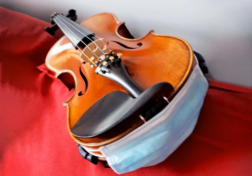 Violin covid mask covid comfort hack